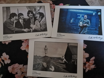 Linda McCartney postcards